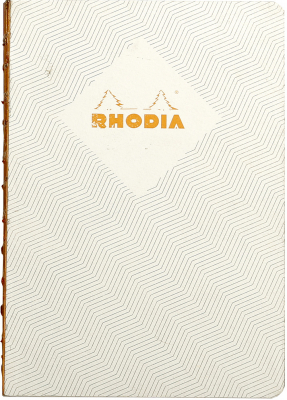 Image of Notebook Rhodia Heritage Raw Bound A5 Chevrons Ivory