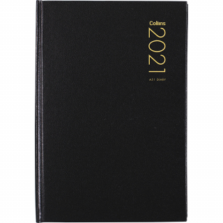 Image of Diary 2021 Collins A51 Black