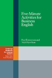 5 Minute Activities For Business English