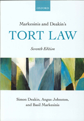 Image of Markesinis And Deakin's Tort Law