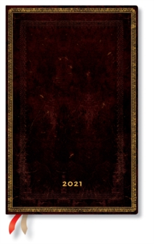 Image of Black Moroccan 2021 Diary Maxi Week At A Time Horizontal Format