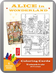 Alice In Wonderland Colouring Cards