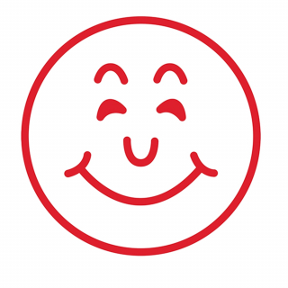Image of Stamp Smiley Face Red