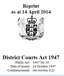 District Courts Act 1947 : Reprint As At 14 April 2014