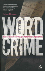 Image of Wordcrime : Solving Crime Through Forensic Linguistics