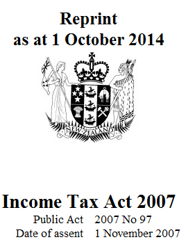 Income Tax Act 2007 : Reprint As At 17 March 2019 Four