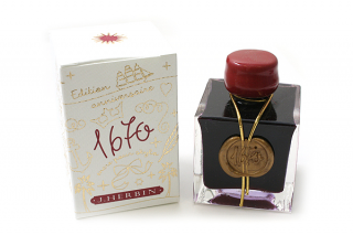 Image of Ink Herbin Anniversary 1670 Bottle 50ml Rouge Hematite
