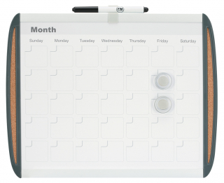 Image of Whiteboard Fm Magnetic Monthly Planner And Marker 355 X 279