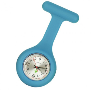 Image of Silicone Fob Watch Date Function : Cyan