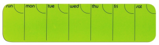 Image of Planner Stick It Silicone Weekly Horizontal Green
