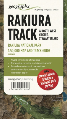 Image of Great Walks Of New Zealand Map Series : Rakiura Track & North West Circuit Stewart Island