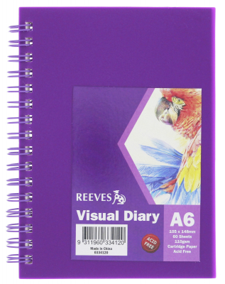 Image of Visual Diary Reeves A6 Purple