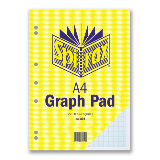 Image of Pad Spirax A4 Graph 1mm