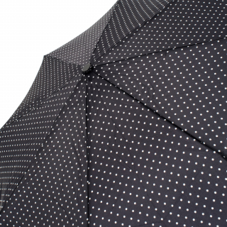 Image of Umbrella Lethaby Mini Dh5 Black With White Dots