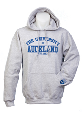 Image of Auckland Varsity Grey Hoodie With Blue Logo Xl