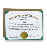 Image of University Of Dating : Greeting Card