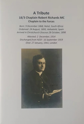 Image of A Tribute To 18/3 Chaplain Robert Richards Mc : Chaplain To The Forces