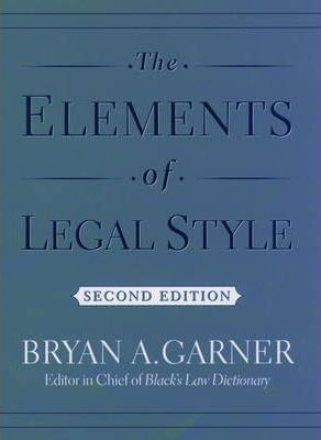 Image of The Elements Of Legal Style