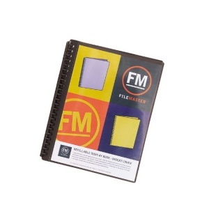 Image of Display Book Fm A4 Refillable Insert Cover Black
