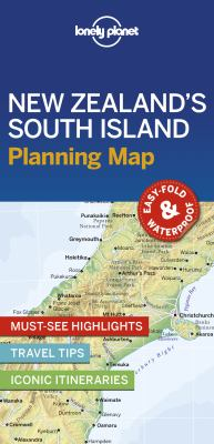 Image of Lonely Planet New Zealand's South Island Planning Map