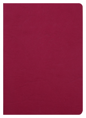 Image of Notebook Clairefontaine Stapled A5 Blank Red