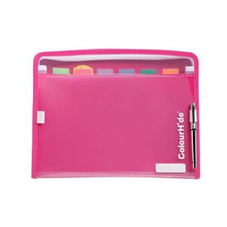 Image of Expanding File Colourhide My Zipit Pink