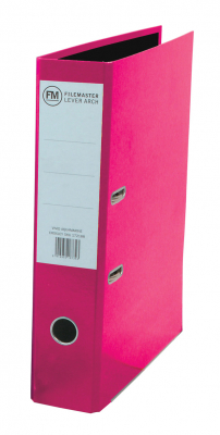 Image of Lever Arch File Fm Vivid Foolscap Shocking Pink