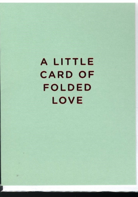 Image of A Little Card Of Folded Love : Mini Greeting Card