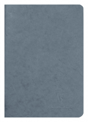 Image of Notebook Clairefontaine Stapled A5 Blank Grey