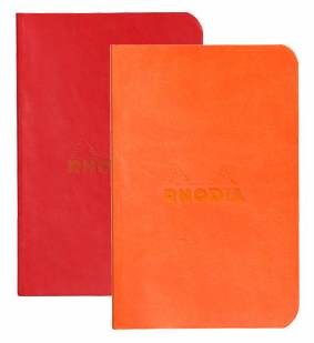 Image of Notebook Rhodiarama Mini 2 Pack Poppy Tangerine