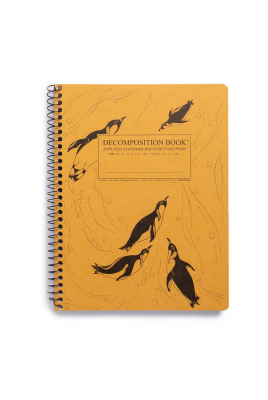 Image of Decomposition Spiral Notebook Large Ruled King Penguins