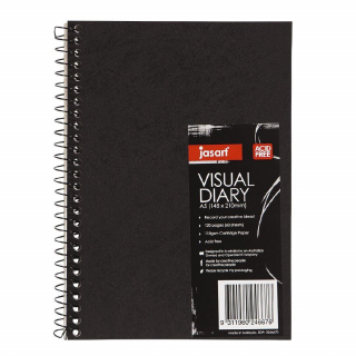 Image of Visual Diary Jasart A5 60 Page Spiral