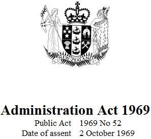 Image of Administration Act 1969 : Reprint As At 1 January 2018