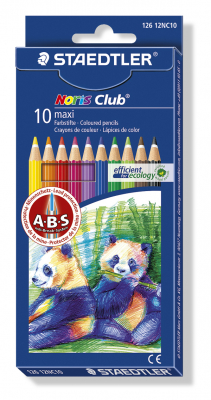 Image of Coloured Pencils Staedtler Noris Club Maxi 10 Pack