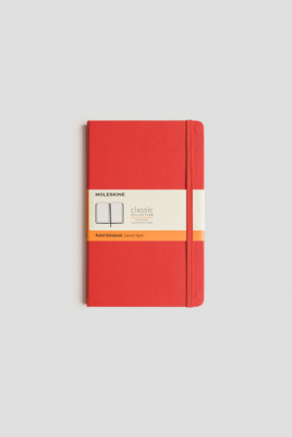 Image of Journal Moleskine Classic Hc Large Ruled Scarlet Red