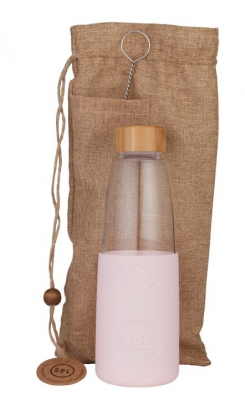Image of Perfect Pink Glass Bottle : Sol Bottle