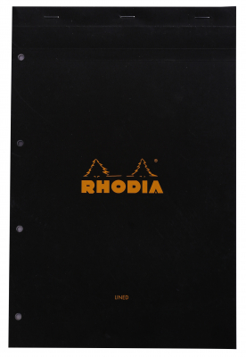 Image of Pad Bloc Rhodia A4+ Lined Black
