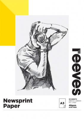 Image of Pad Reeves Newsprint A3 50 Sheets 52gsm