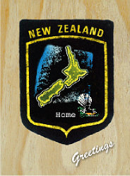 Image of Aotearoa New Zealand Map Patch : Greeting Card
