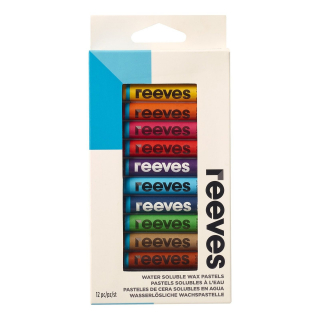 Image of Pastels Reeves Water Soluble Wax 12 Pack