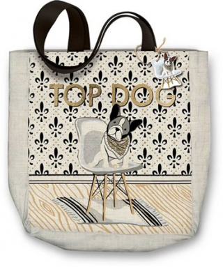 Image of Molly And Rex Top Dog : Canvas Tote Bag