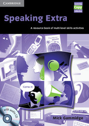 Image of Speaking Extra : A Resource Book Of Multi-level Skills Activities : Book And Audio Cd Pack