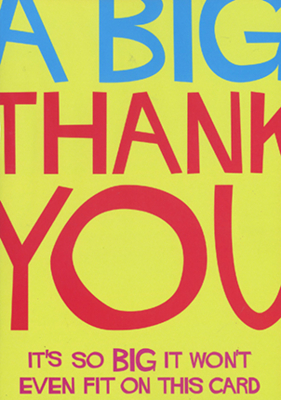 Image of Big Thank You : Greeting Card