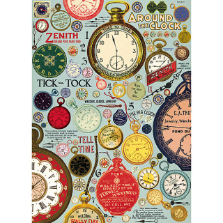 Image of Cavallini Vintage Clocks : Wrapping Paper