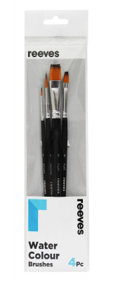 Image of Paint Brush Set Reeves Watercolour 4 Pack