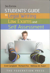 Students Guide To Legal Writing Law Exams & Self Assessment