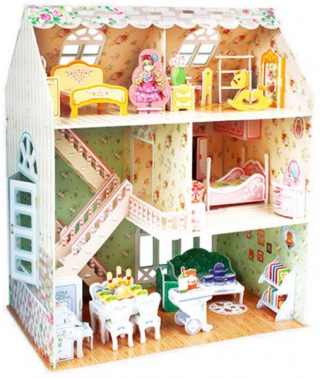 Image of 3d Puzzle Model 160 Piece: Dreamy Dollhouse