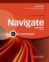 Image of Navigate : Pre-intermediate B1 : Workbook With Key + Audio Cd