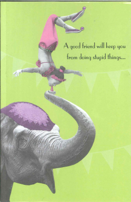 Image of A Good Friend Will Keep You From Doing Stupid Things : Greeting Card