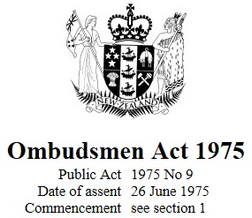 Image of Ombudsmen Act 1975 : Reprint As At 28 September 2017